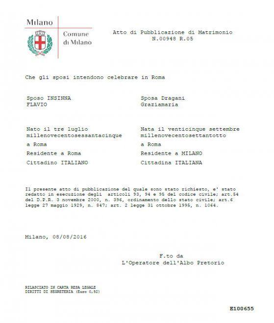 Flavio Insinna si sposa con Graziamaria Dragani