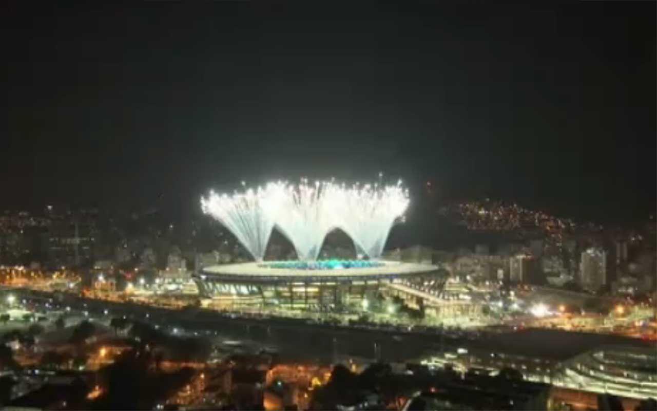 #Rio2016 lo spettacolo dei fuochi d'artificio