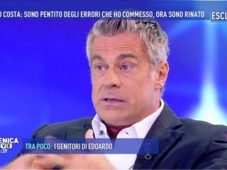 Edoardo Costa a Domenica Live: 'Dopo la truffa alla onlus rinato con il buddismo'
