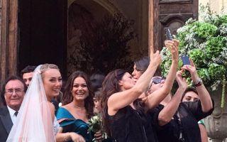 Matrimonio Cristel Carrisi, l'arrivo della sposa con papà Al Bano