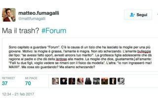 """Forum, la figlia alla madre: """"cicciona"""", ma la rete si ribella """"è bullismo"""""""