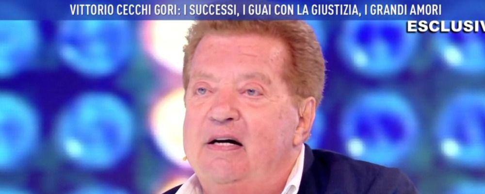 Domenica Live, Vittorio Cecchi Gori: 'Io e Valeria Marini aspettavamo un bambino'