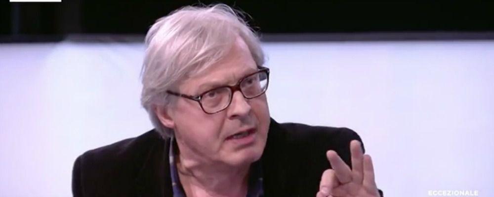 Vittorio Sgarbi, 'vaffa' a Luisella Costamagna e insulti a Luca Telese: rimane in studio da solo