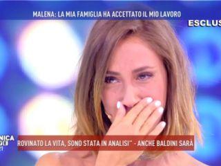 Domenica Live, le lacrime di Malena: 'Mio padre mi ha rinnegata per il porno'