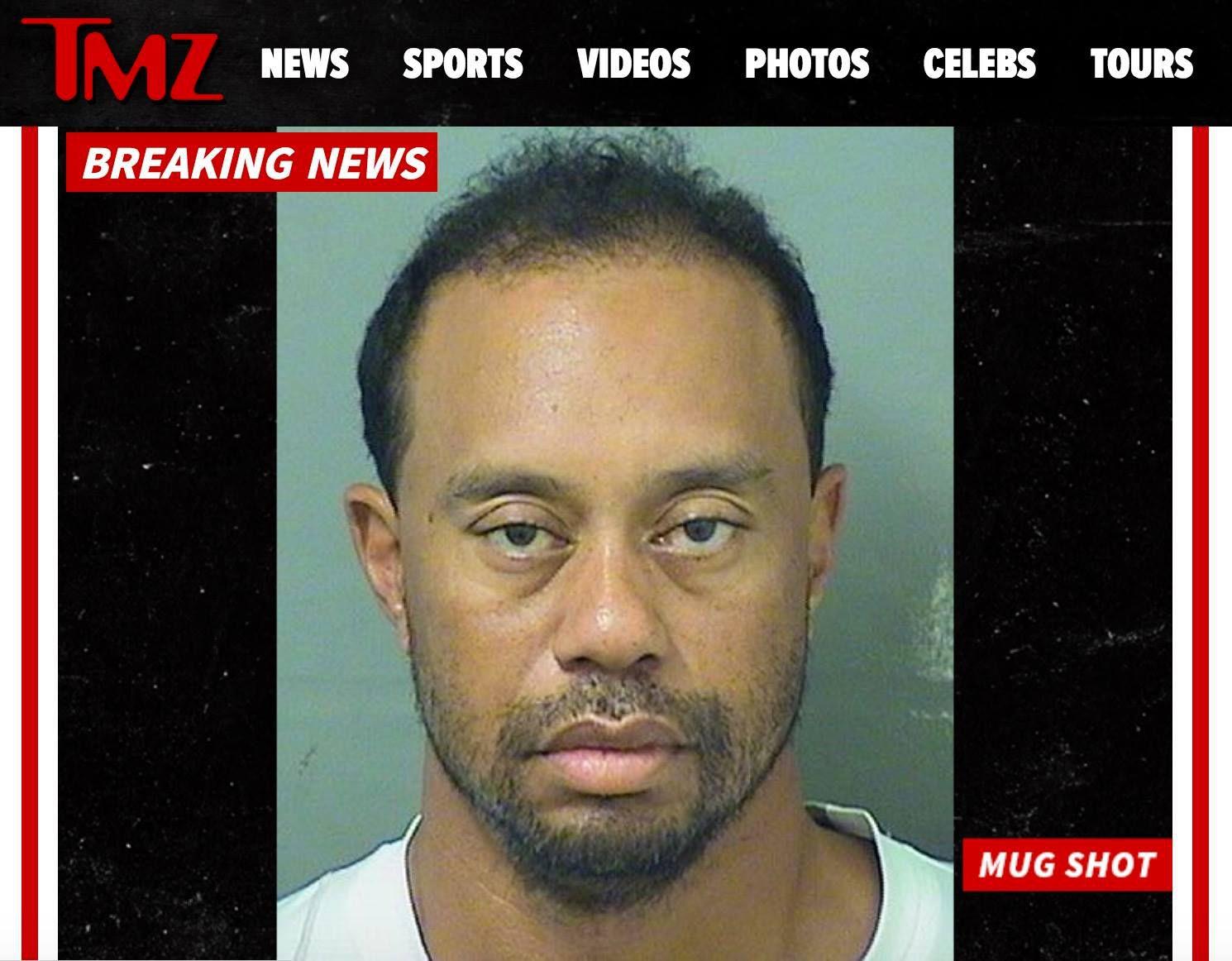 Tiger Woods arrestato per guida in stato d'ebbrezza