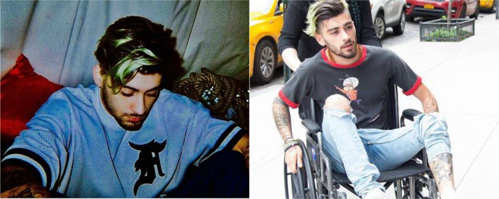 Zayn malik l ex one direction in sedia a rotelle tvzap for Film sedia a rotelle