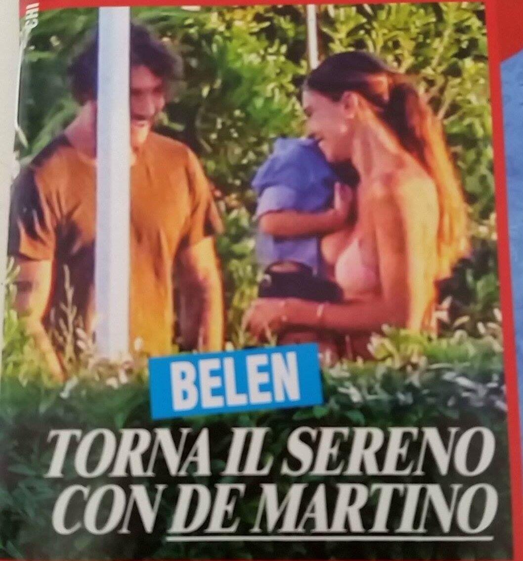 Belen e Stefano De Martino, pace fatta a Ibiza