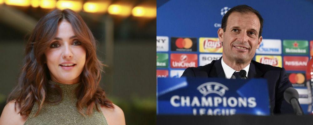 Ambra Angiolini, è amore con Massimiliano Allegri, allenatore della Juventus