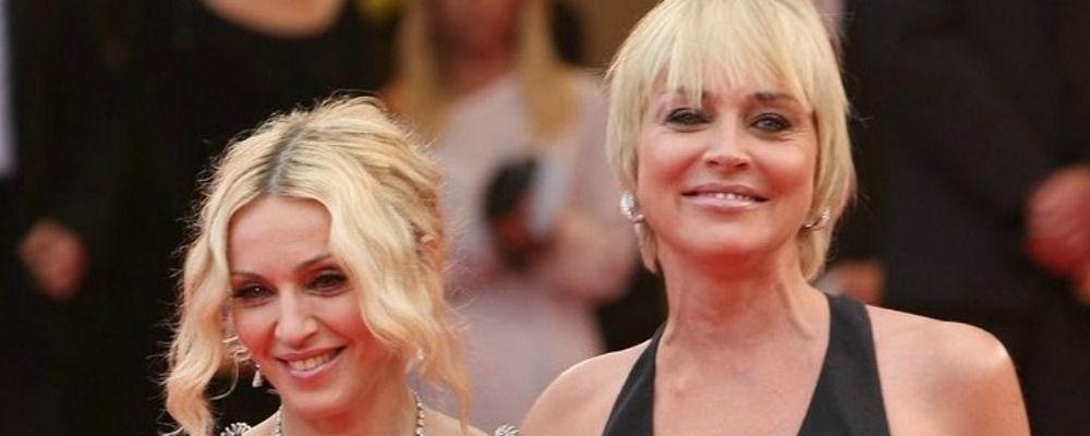 Sharon Stone risponde a Madonna: 'Mi sono sentita mediocre. Ti voglio bene e ti adoro'