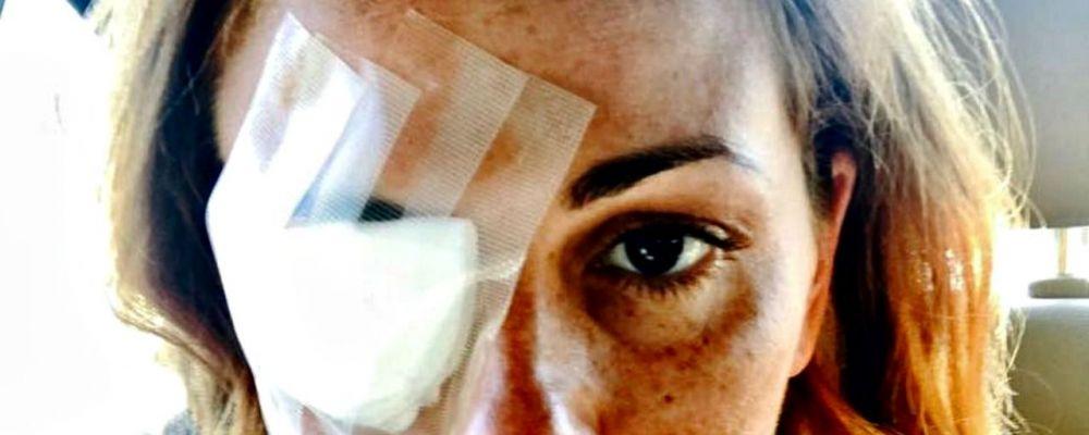 Vanessa Incontrada, la benda sull'occhio allarma Instagram