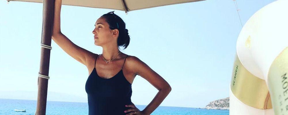 Caterina Balivo, ultimo tuffo al mare per la neo mamma