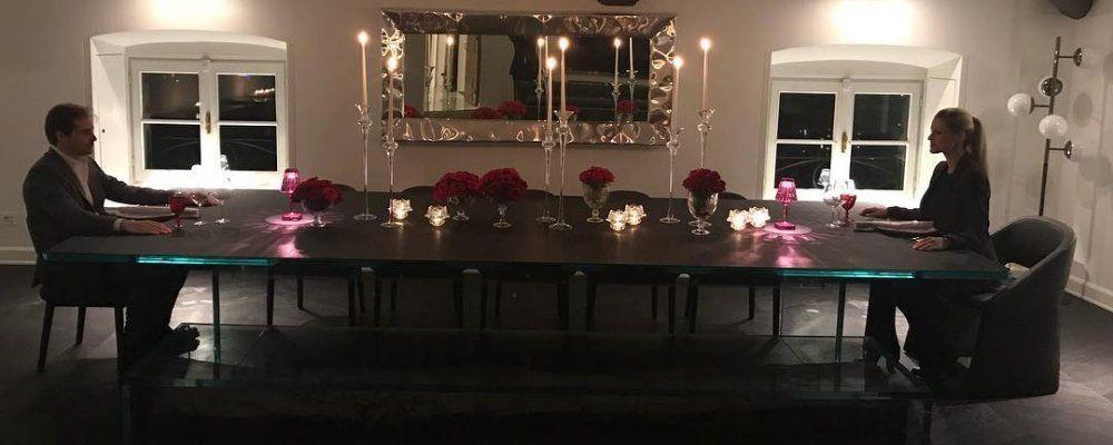 Michelle Hunziker, cena a lume di candela con Tomaso Trussardi