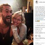 Game of Thrones, reunion tra Jason Momoa e Emilia Clarke, tra Khal Drogo e la sua Khaleesi