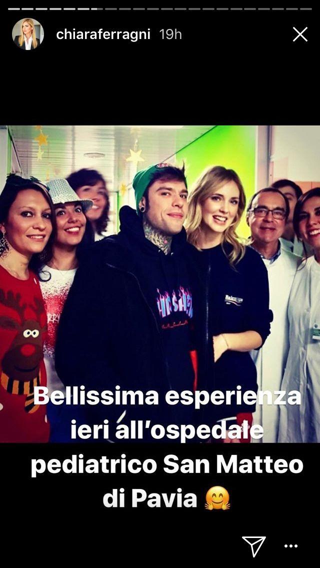 Fedez e Chiara Ferragni, festa di Natale con i bambini malati