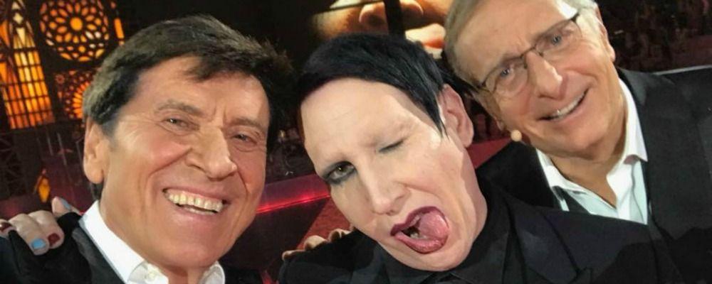 Marilyn Manson ospite di Bonolis a 'Music', gli esorcisti: 'Testimonial del male'
