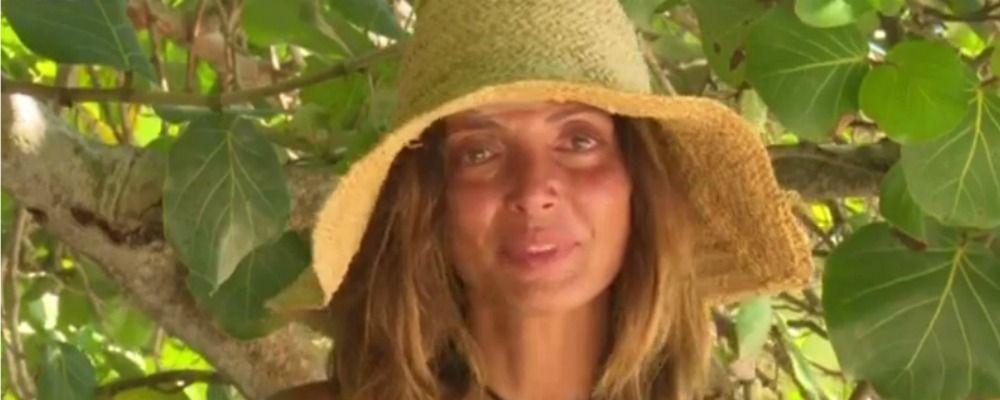 Isola dei famosi 2018, le lacrime di Alessia Mancini per i figli