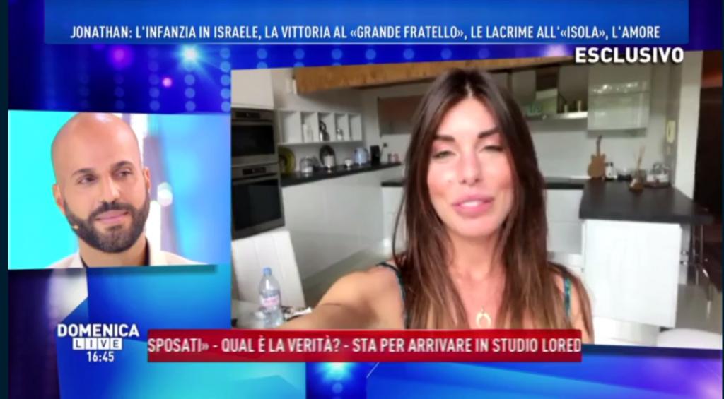 Domenica Live, Jonathan Kashanian a Bianca Atzei: 'Ti voglio