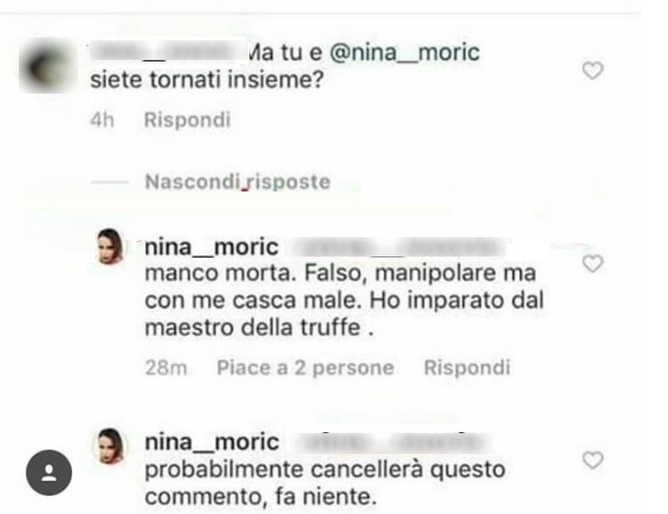 Grande Fratello, Nina Moric torna con Luigi Favoloso? 'Manco