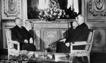 Charles de Gaulle e Konrad Adenauer a Parigi il 21 gennaio 1963  (Foto di: /AFP/Getty Images)