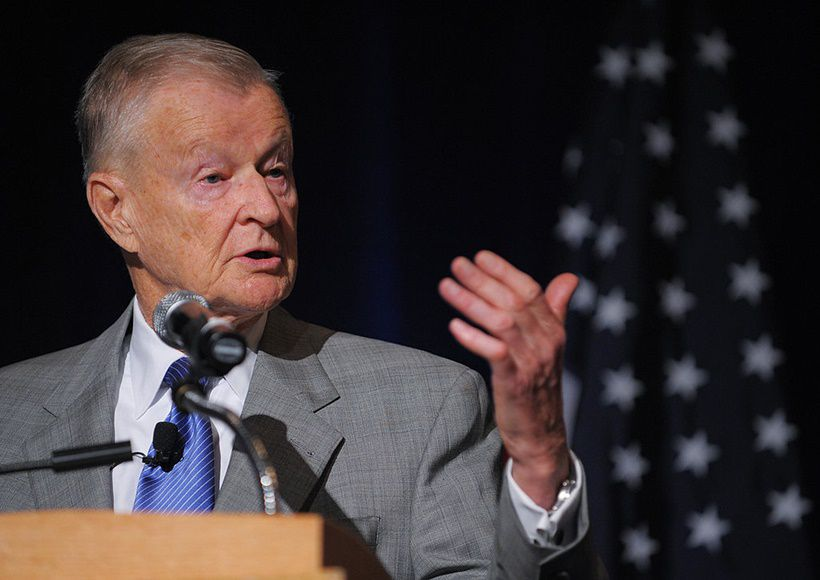 Former US national security advisor Zbigniew Brzezinski speaks during a forum on US-Saudi relations ON April 27, 2009 at a hotel in Washington.          AFP PHOTO/Mandel NGAN (Photo credit should read MANDEL NGAN/AFP/Getty Images)
