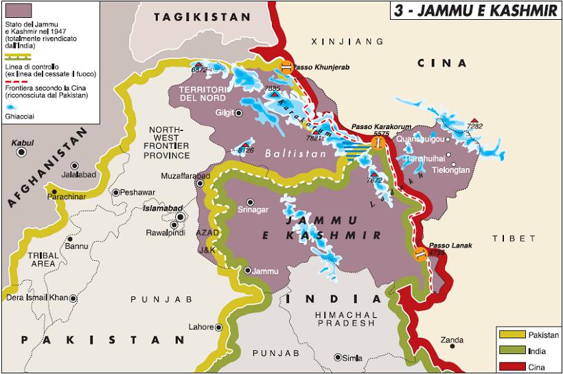 Cartina Fisica E Politica Dell India.Ragione E Sentimento Di Chi E Il Kashmir Limes