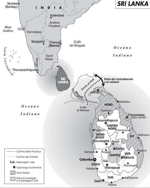 Sri Lanka, la battaglia delle Tigri contro il governo