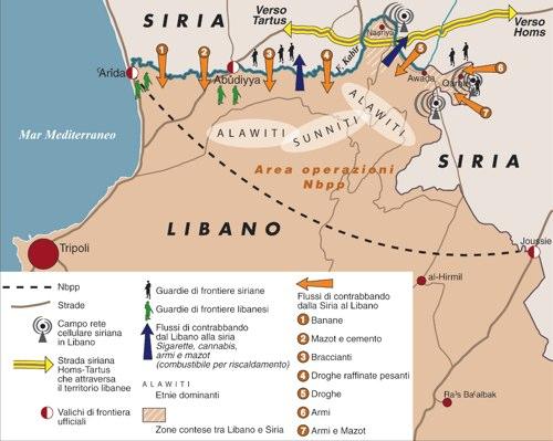 Libano-Siria, il confine che non c'è