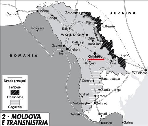 Le mani russe su Moldova e Transnistria