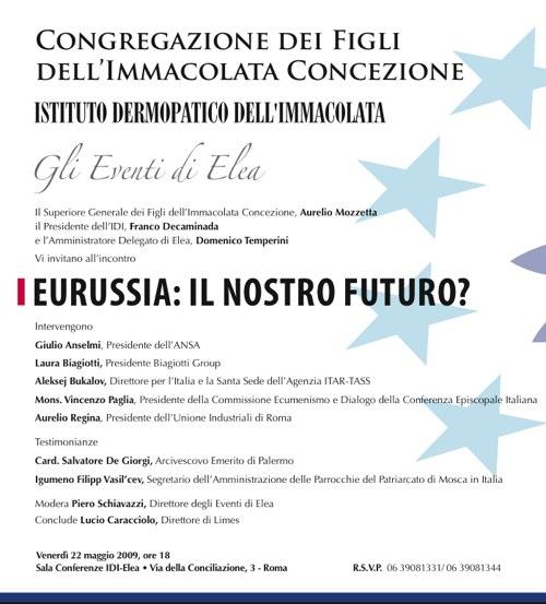 Roma: presentazione Eurussia, il nostro futuro?