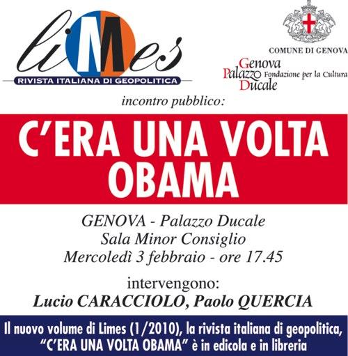 Genova: C'era una volta Obama