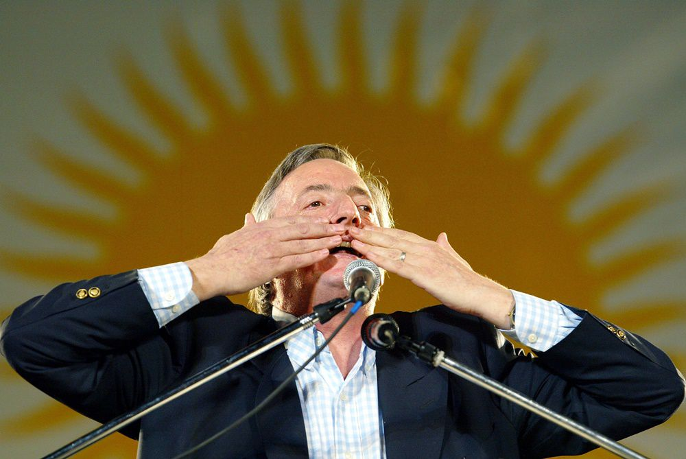 Nestor Kirchner, presidente argentino dal 2003 al 2007  (Foto: MAURICIO LIMA/AFP/Getty Images).