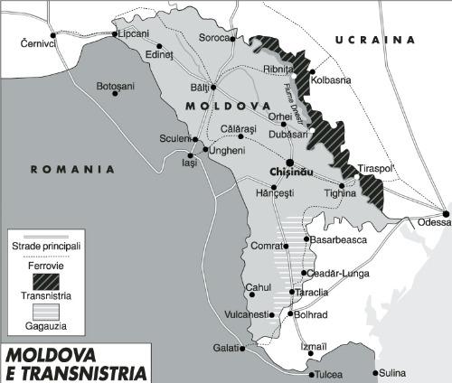 Russia e Romania si contendono la Moldova