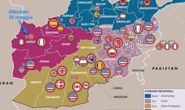 Mappa: Attentato alla base italiana a Herat in Afghanistan