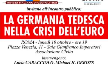 Roma: La Germania tedesca nella crisi dell'euro