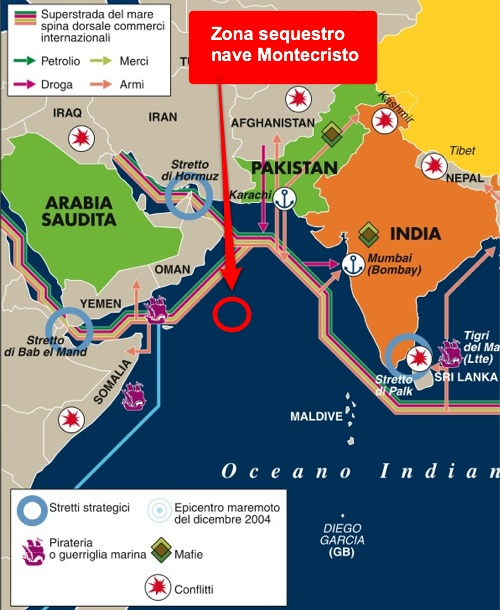 Somalia: sequestrata nave italiana