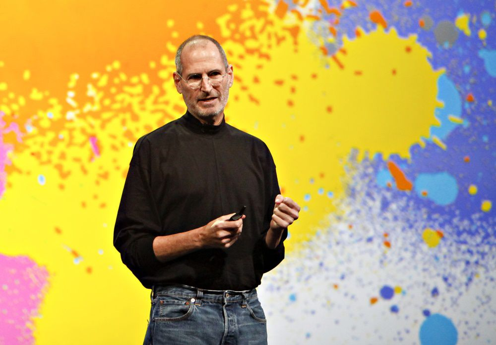 Steve Jobs, chief executive officer of Apple Inc., speaks during the debut of the Apple iPad tablet at the Yerba Buena Center for the Arts Theater in San Francisco, California, U.S., on Wednesday, Jan. 27, 2010. Apple Inc., seeking to revolutionize the publishing business in the same way the iPod transformed the music industry, unveiled a tablet computer starting at $499, a price that was 50 percent lower than some analysts predicted. Photographer: Tony Avelar/Bloomberg via Getty Images