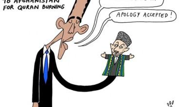 Vignetta: Obama si scusa per il rogo del Corano