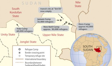 L'esodo dei rifugiati verso il Sud Sudan continua