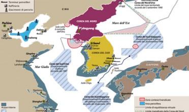 Gli scogli delle Dokdo contesi fra Corea del Sud e Giappone