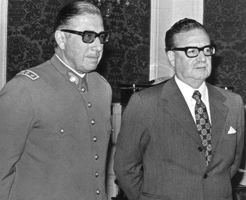 Augusto Pinochet e Salvador Allende