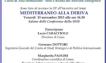 """A Roma conferenza """"Mediterraneo alla deriva"""""""