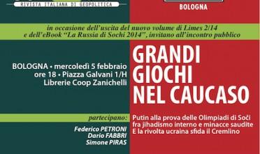 """Presentazione a Bologna di """"Grandi Giochi nel Caucaso"""""""