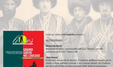 """A Novara, presentazione di """"Grandi giochi nel Caucaso"""""""