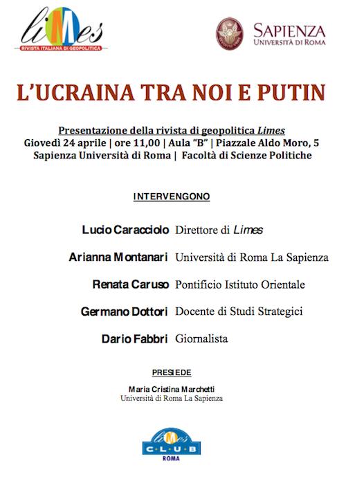 """A Roma, presentazione del volume """"L'Ucraina tra noi e Putin"""""""