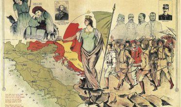 Carta simbolico-geografica italia irredenta boria 820 5:14