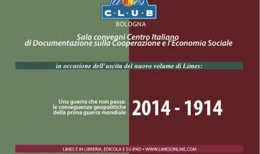 """A Bologna, presentazione """"2014-1914: L'eredità dei grandi imperi"""""""