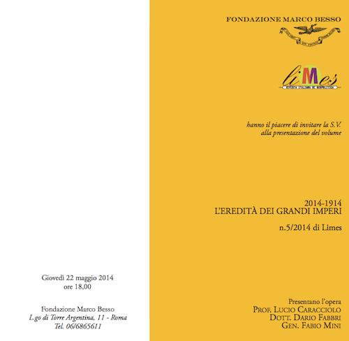 A Roma, la presentazione del nuovo numero di Limes