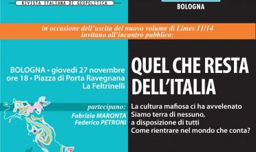 A Bologna, Limes presenta 'Quel che resta dell'Italia'