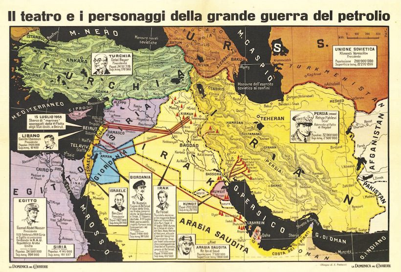 """Carta de """"La Domenica del Corriere"""", scelta per Limes da Edoardo Boria."""