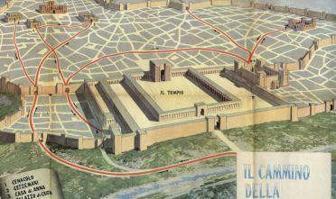 """Carta """"Il cammino della passione"""" in allegato a """"Scuola italiana moderna"""" (1960)"""